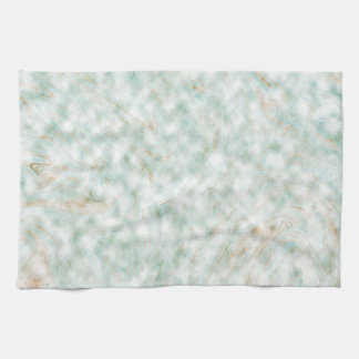 Abstract Pattern White Background Whirls Kitchen Towel