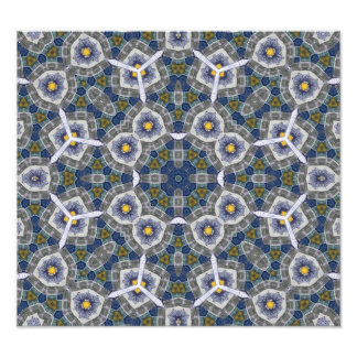 Abstract Pattern with color blue Photo Art