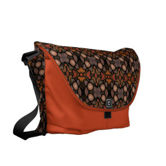 Abstract Pattern With Orange Commuter Bag
