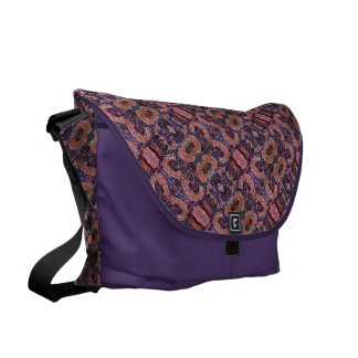 Abstract Pattern With Purple Courier Bag