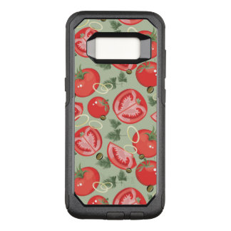Abstract pattern with tomato OtterBox commuter samsung galaxy s8 case