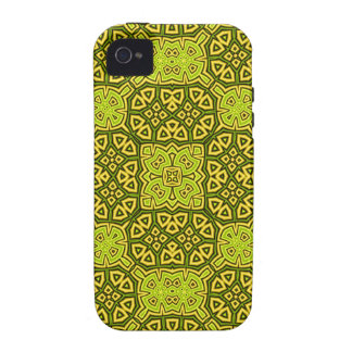 Abstract Pattern yellow iPhone4 Case