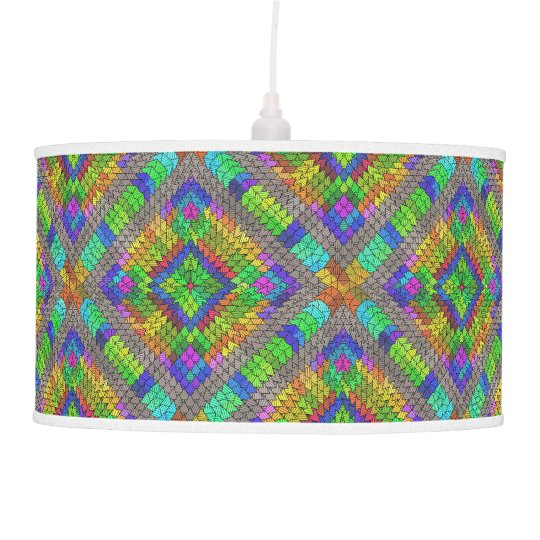 Abstract Patterns 41A-B Image Options Pendant Lamp