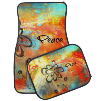 Abstract Peace Car Mat