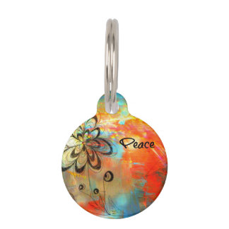 Abstract Peace Pet Tag