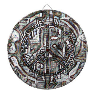 Abstract peace symbol dartboard