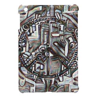 Abstract peace symbol iPad mini cover