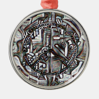 Abstract peace symbol metal ornament