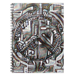 Abstract peace symbol notebook