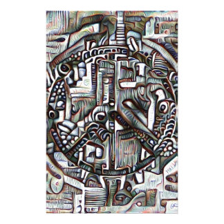 Abstract peace symbol stationery paper
