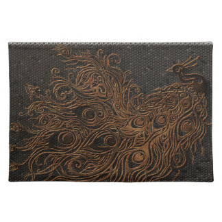 Abstract Peacock Bronze Place Mat