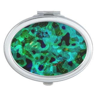 Abstract Peacock Color Design Compact Mirror
