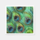 Abstract Peacock Feathers Paper Napkin