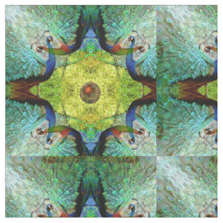 Abstract Peacock Pattern Fabric