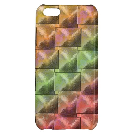 """Abstract """"Pearled Block"""" pattern iPhone 5C Covers"""