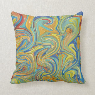 Abstract Pebbles Throw Pillow