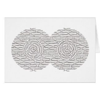 Abstract Pen Drawing Card