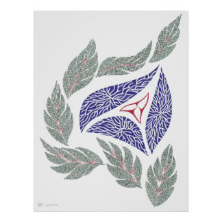 Abstract Pen Drawing Poster