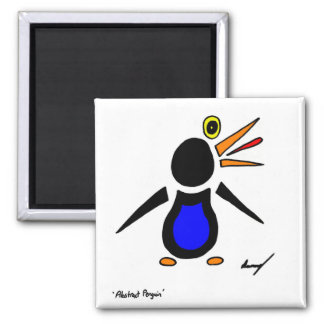 Abstract Penguin Square Magnet