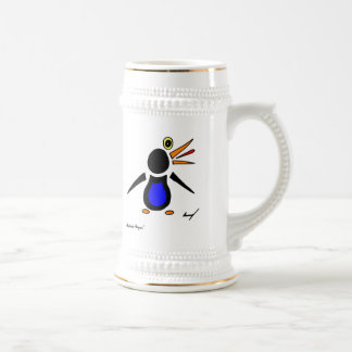Abstract Penguin Stein Beer Steins