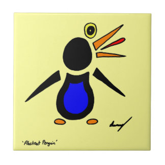 Abstract Penguin Tile - Yellow