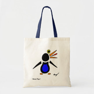 Abstract Penguin Tote Bag