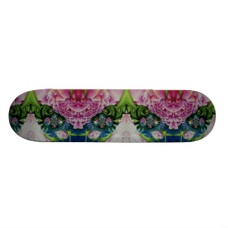 Abstract Peonies Skateboard
