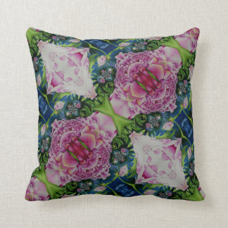 Abstract Peony Pattern Throw Pillow