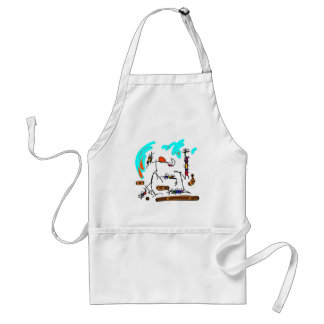 abstract person aprons