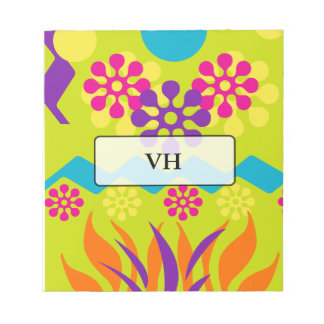 Abstract personalized notepad