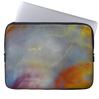 Abstract Petrified Wood close-up Laptop Sleeves