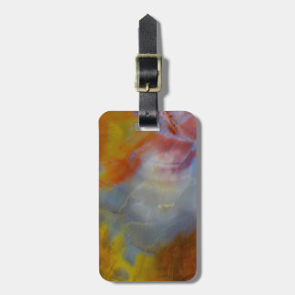Abstract Petrified Wood close-up Luggage Tag