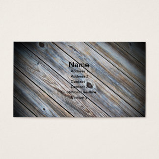 abstract photo of an outdoor worn wooden deck business card