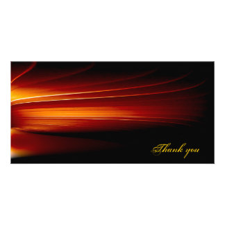 abstract customized photo card
