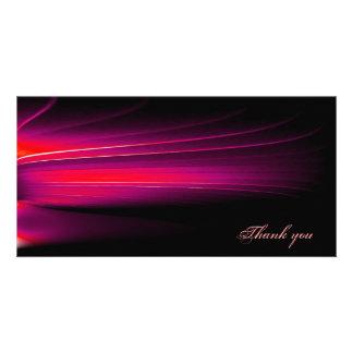 abstract custom photo card