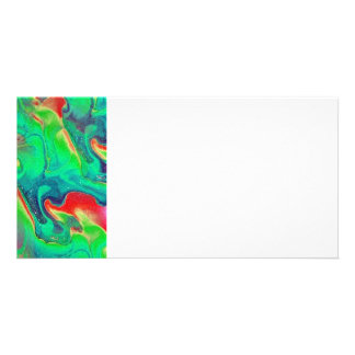 Abstract Personalized Photo Card