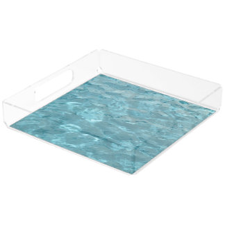 Abstract Photography Aqua Swimming Pool Water Acrylic Tray