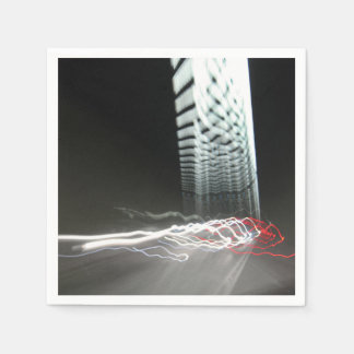 Abstract Photography Lights tunnel Disposable Napkins