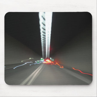 Abstract Photography Lights tunnel Mouse Pad