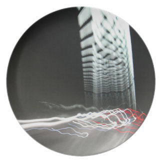 Abstract Photography Lights tunnel Plate