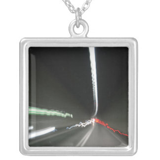Abstract Photography Lights tunnel Silver Plated Necklace