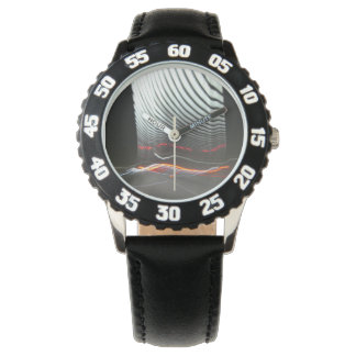 Abstract Photography Lights tunnel Wrist Watch