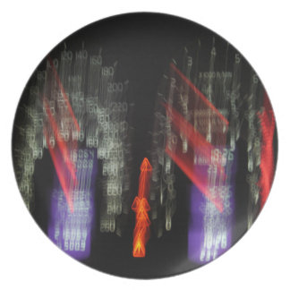 Abstract Photography Speedometer Lights 01 Party Plate