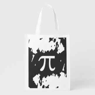 Abstract Pi Symbol - 1 sided design Reusable Grocery Bag