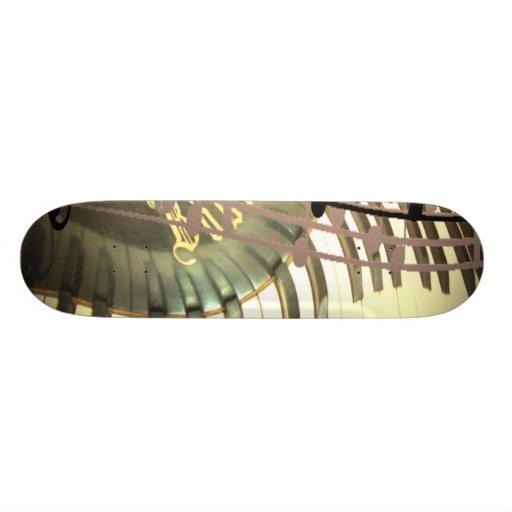 Abstract Piano Skateboard