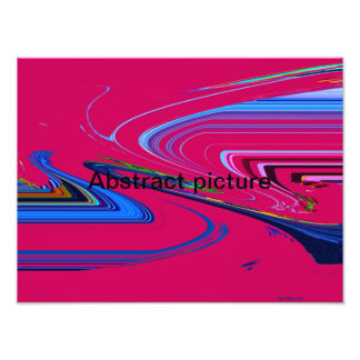 Abstract picture photographic print