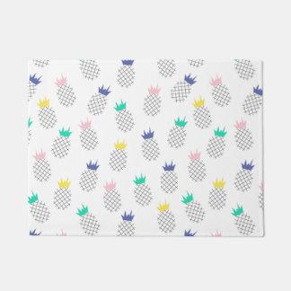 Abstract Pineapples Doormat
