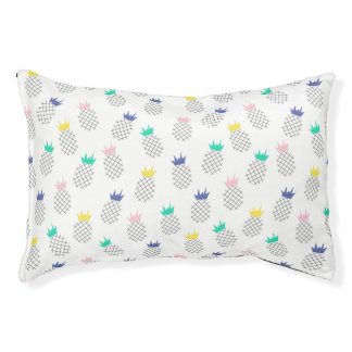 Abstract Pineapples Small Dog Bed