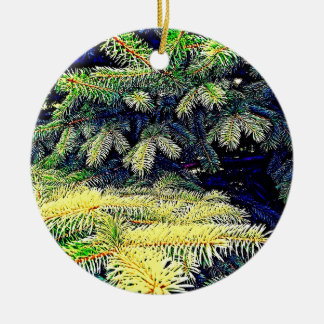 Abstract Pines Ceramic Ornament