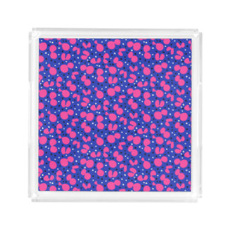 Abstract Pink and Blue Blobs - Makeup Jewelry Tray